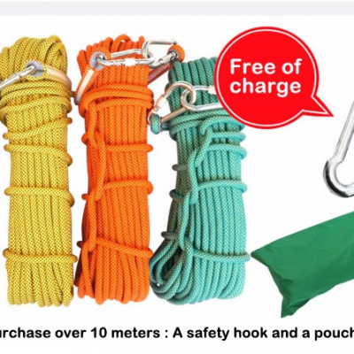 Personal protective escape rope & polyester rope