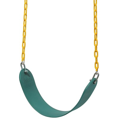 Swing Seat Heavy Duty 66″ Chain Plastic Coated – Playground Swing Set Accessories Replacement | Green