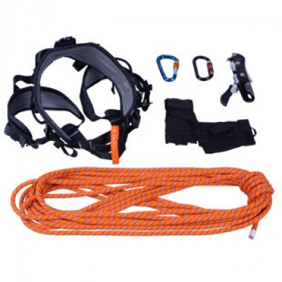 Carabiner Semi-Static Rope Mountain Climbing Set Equipment