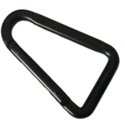 Black Steel Delta Shaped Snap Hook