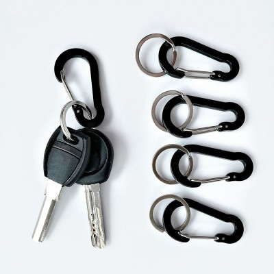 Carabiner 5PCS 2 Inch / 5cm Flat Gourd Shape Mini Clip Small Locking Keychain Keyring Spring Hook Biner for Keys Other Items Rating for Daily Indoor Outdoor Life Home Hammocks Camping Hiking