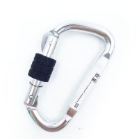 2018 New Product Sliver D Shape Tension Aluminum Carabiner With A Screw/AERIAL PRO S