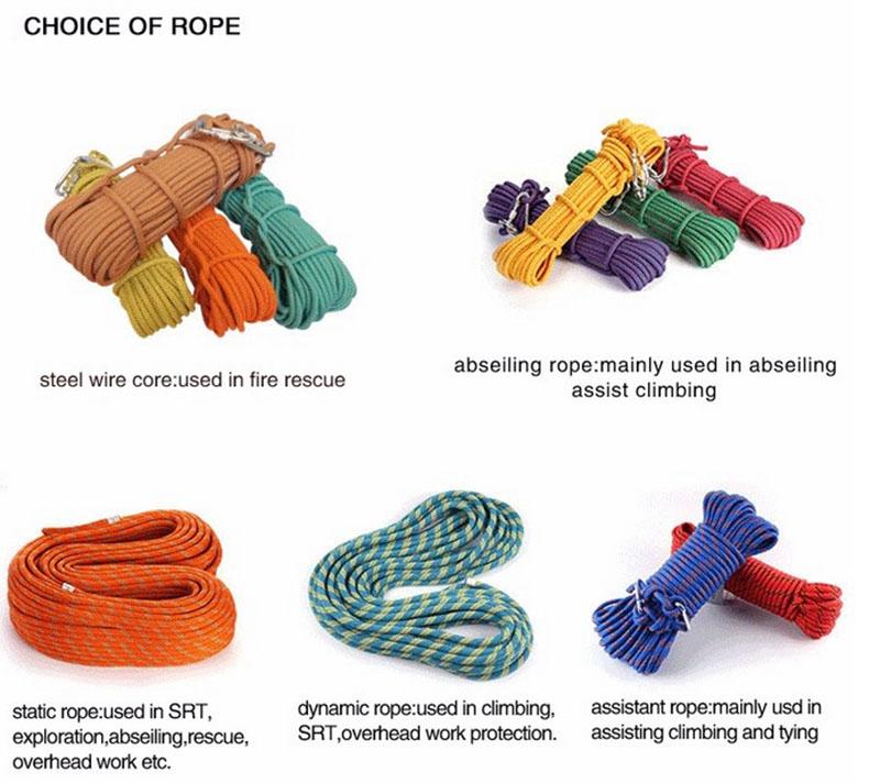 Nylon climbing rope static rope(4)