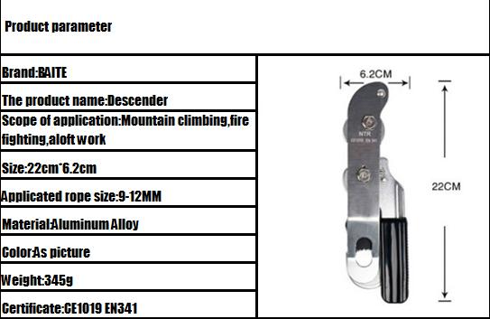 Operable Aluminum Climbing Descender(3)