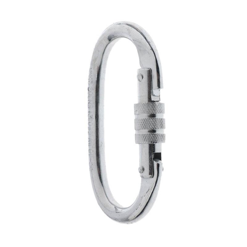 O Shaped Screw Locking Climbing Carabiner + Rigging Rappel Ring Bail 3
