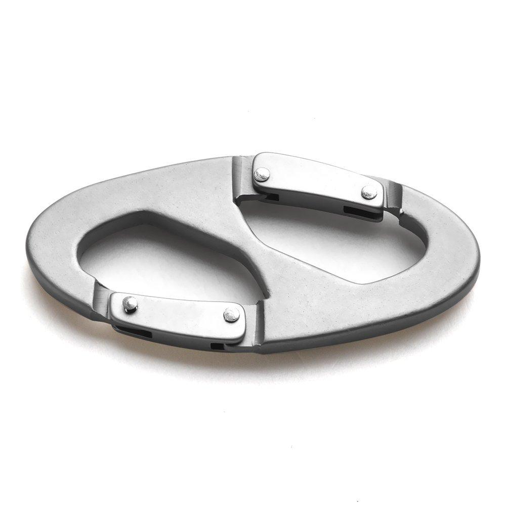 D-shape Aluminum Screw Locking Carabiner 2
