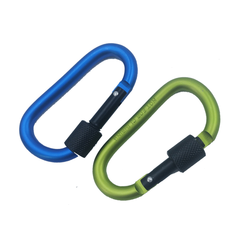 Outdoor D Shaped Keychain Buckle for Camping 1