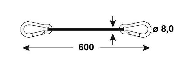 Small Carabiner Key Ring 2