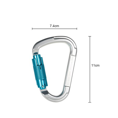 Aluminum Alloy Autolock Self-Locking Climbing Carabiner 2