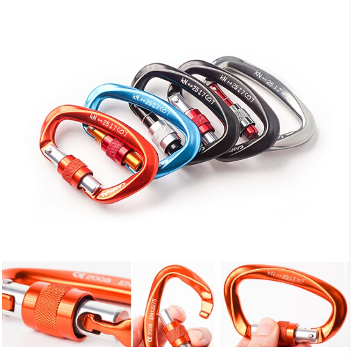 Carabiner Aluminum Alloy Hook Climbing Camping Outdoor Survival Tool 3