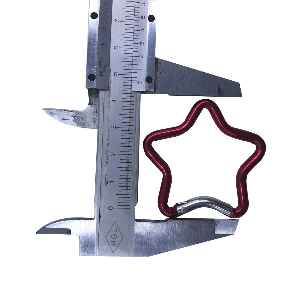 mini star shaped aluminum carabiner 1